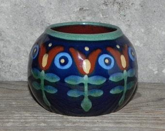 colorful ceramic ball vase
