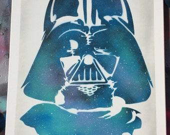 Darth Vader Stencil painting