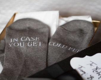 groom gift / wedding gift / wedding socks / grooms socks / cold feet socks wedding gift idea / bride / gray wedding #wedding #groom #bridal