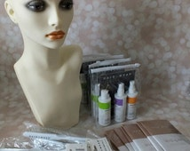 Mannequin Head and Wig brushes, wig caps, and wig shampoo, wig hairspray, wig conditioner