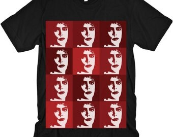 Warhol Franknfurter on Black American Apparel Tshirt
