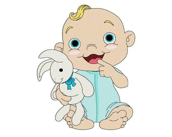 baby machine embroidery design, cute design for kids, fill embroidery design, instant download