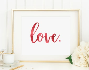 Love | Downloadable Print | Instant Download | Gallery Wall | Printable