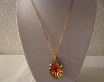 Vintage Goldtone Starburst Necklace
