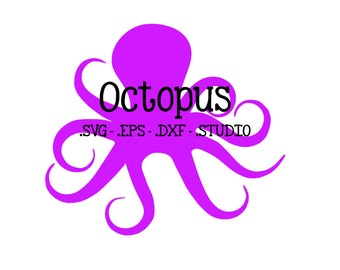 Octopus SVG - Octopus DXF - Octopus EPS - Octopus Silhouette Studio Cut File - Octopus Cuttable - Monogram Octopus Cut File - Cricut Design