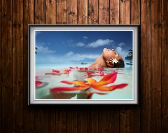 A2 or a3 SPA Beauty Salon or Bathroom Canvas print 280 gsm. Poster