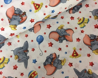 Disney dumbo - dumbo fabric - disney fabric - material -sewing -supply - notion - bty -1 yard yard