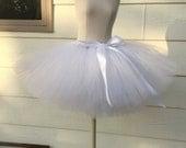 White tutu skirt. Bachelorette tutu. Bridesmaid tutu. More color options available!!!!
