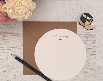 Rose Gold Round Personalized Stationery, Name Stationery, Personalized Stationary, Name Note Cards, Personalized Notecard, Stationary, Rose
