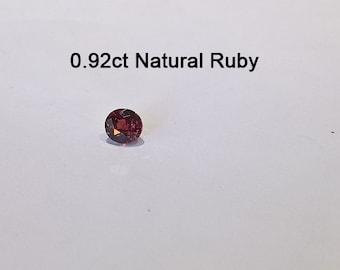 0.92ct Loose Natural Ruby Gemstone Birthstone - GS57