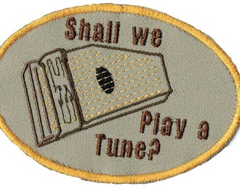 Autoharp Shall We Play A Tune? Iron On Patch