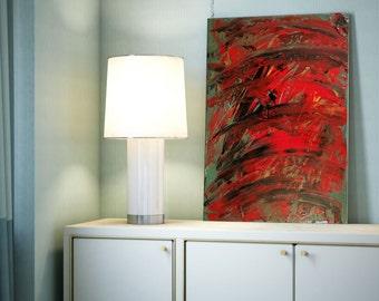 "16x20"" Abstract Painting, Ready to Hang, Original Modern Art Titled ""Cut So Deep"""