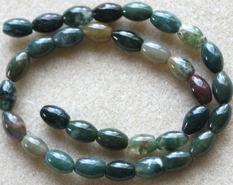 Indian Agate Drum Shape Beads 12 x 7.5-8.5 mm - Full Strand (Free UK Postage)