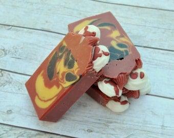 Paint The Roses Red Artisan Soap Bar, Vegan Soap Bar, Cold Process Soap, Soap Bar
