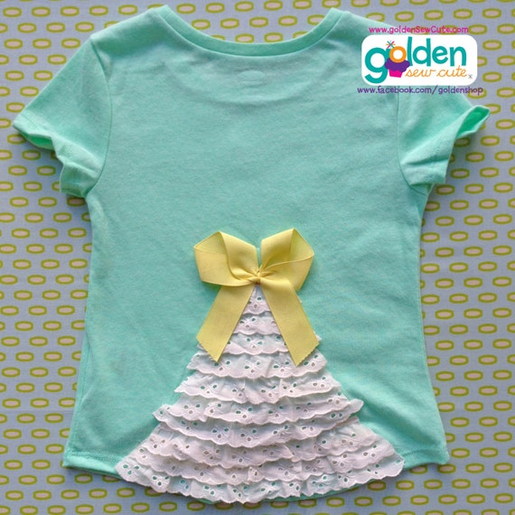 Easter Bunny Fluffy Tail, Ruffle Back and Bow, Girl Spring Tee