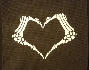 Skeleton Hands Heart Patch