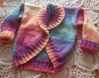 Made to Order, HandKnitted, Rainbow, Hug-Me Cardigan