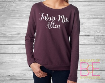 Future Mrs. Ladies Scoop Neck Long Sleeve