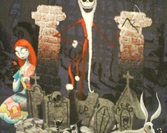 Nightmare Before Christmas Jack Skellington Fabric 35x44 Inches