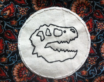 T-rex skull outline patch