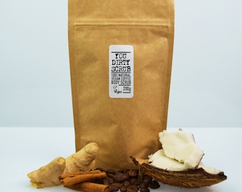 Vegan Coffee Body Scrub - 100% Natural, Cruelty Free, Paraben Free, Handmade, GMO Free