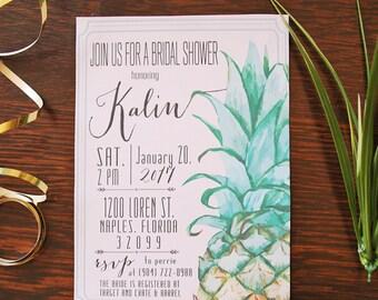Pineapple Invitation, Pineapple Bridal Shower, Pineapple Wedding, Pineapple Birthday, Party Invitation Printable