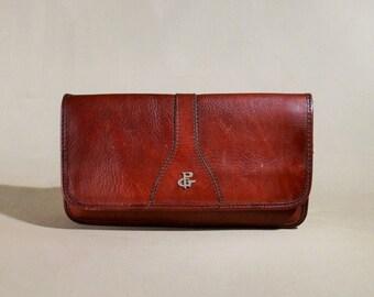 Vintage Gabrielle P Burgundy Leather Bag, Shoulderbag, Shoulderpurse, Lady Bag, Enveloppe Bag