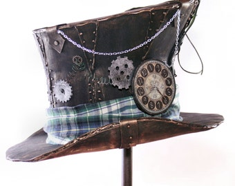 Steampunk Mad Tea Party Top Hat