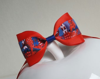 Spiderman bow tie/superhero bow tie/spiderman birthday/spiderman birthday outfit/spiderman party decorations/blue red bow tie/boys bow tie