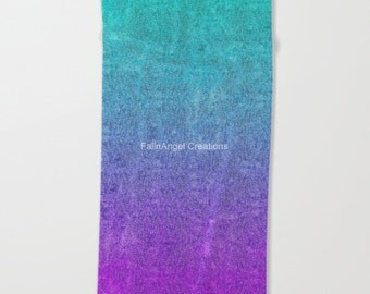 Tropical Twilight Glitter Gradient Beach Towel, Bath Towel, and Hand Towel! You Choose!