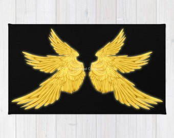 Golden Archangel Wings Accent Rug, Multiple Sizes Available! - Supernatural, Gabriel