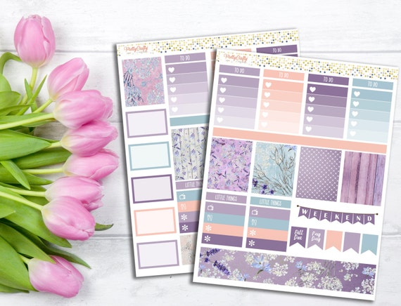 Lavender Fields Stickers Kit - Perfect for the Erin Condren life planner