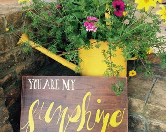 You Are My Sunshine Hand Painted Sign