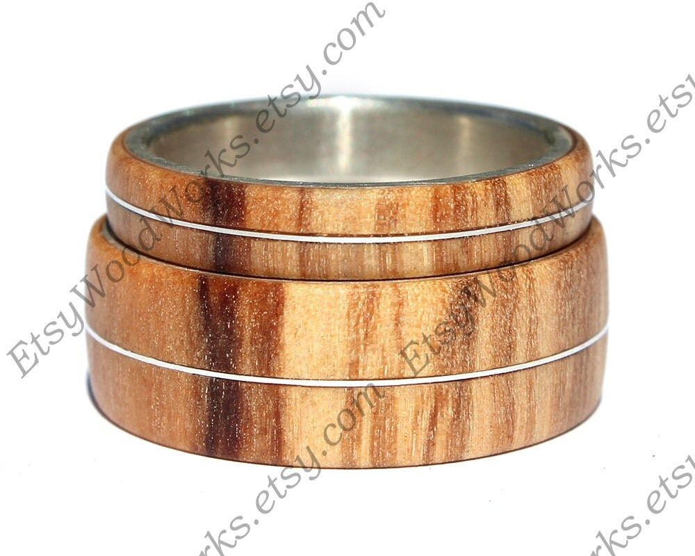 Wood Ring Olivewood Wooden Ring Wooden Wedding Ring Wood