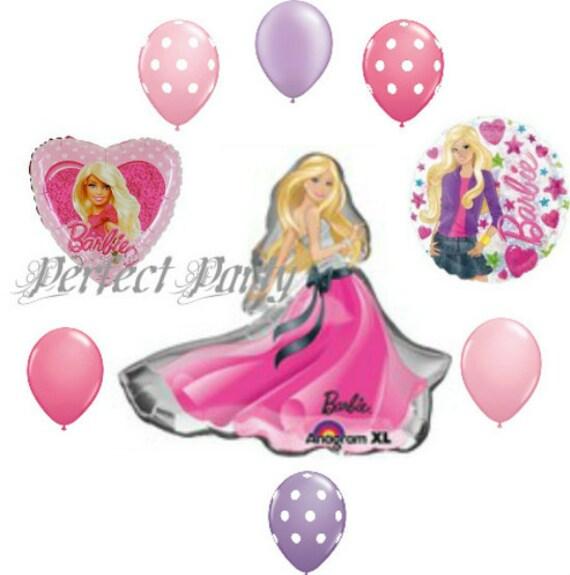 pc Barbie Birthday Balloon Bouquet