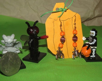 halloween bat earrings 2