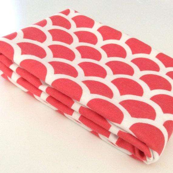 Light Watermelon Pink Pattern Cotton Baby Wrap Blanket Swaddle 103cm x 103cm