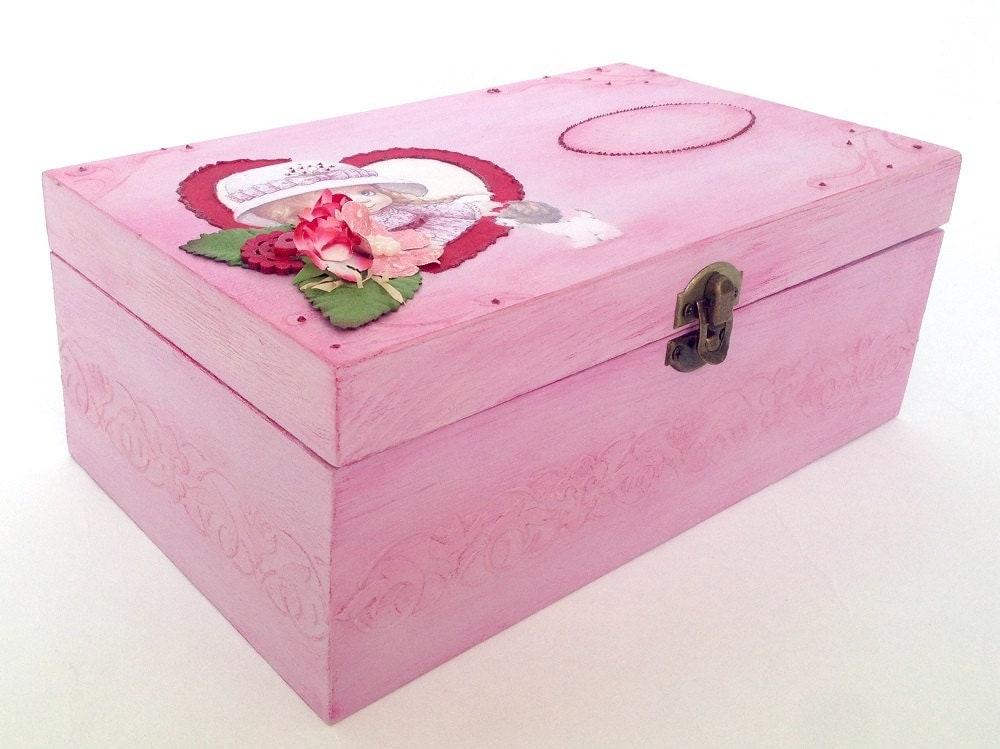 personalized baby girl keepsake box baby memory box baby. Black Bedroom Furniture Sets. Home Design Ideas