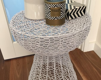Chainlink Hourglass Stool Table