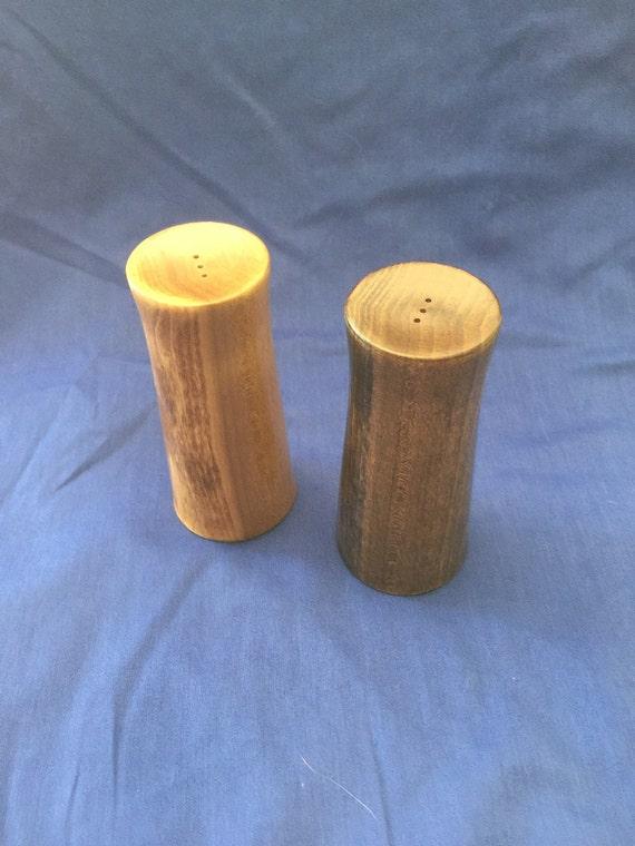 Handmade turned wood salt and pepper shakers for home use - Unusual salt uses ...