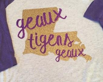 LSU Geaux Tigers Geaux Baseball Tee