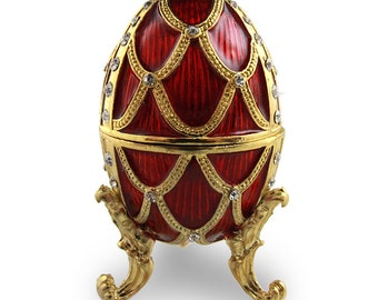 Russian Faberge Egg, Easter Egg, Trinket Box, Jewelry Box