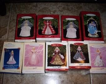 Barbie Ornaments; Set of Nine
