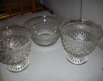 Three pc. Wexford Bowls