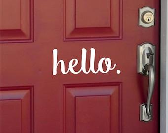 Hello or Hola Front Door Vinyl Decal