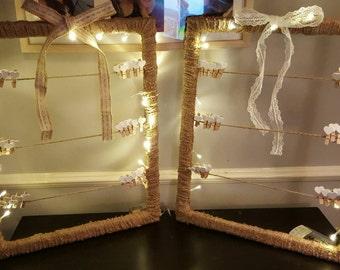 Handmade polaroid/guest wish frame holder