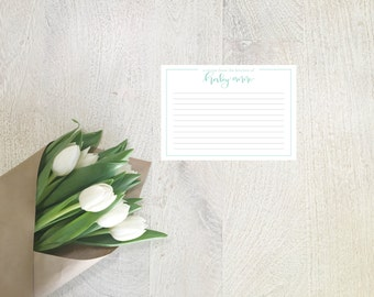 Custom Recipe Cards- Personalized Hand Scripted Note Cards