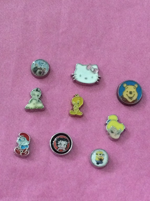character floating charms by bernadettescharms on etsy
