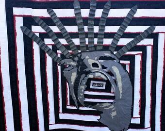 Black Noise - Art Quilt