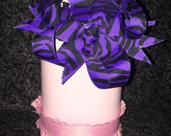 Made to order zebra bow